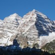 Snow Capped Maroon Bells — Stockfoto