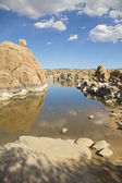 Watson Lake Landscape — Stock Photo