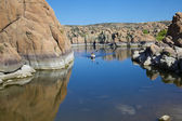 Kayaking Watson Lake Prescott Arizona — Stock Photo