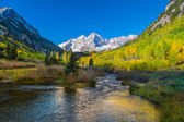 Maroon Bells Aspen Colorado in Fall — Stock Photo