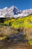 Maroon Bells Aspen Colorado in Fall — Stockfoto