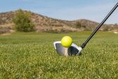 Addressing the Golf ball — Stock Photo