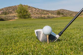 Addressing the Golf ball — Stock Photo