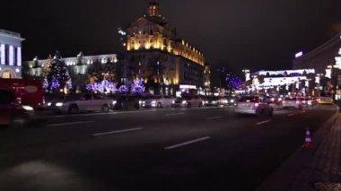 晚上路到市.timelapse — 图库视频影像