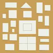 Conjunto de selos em branco — Vetorial Stock