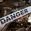 Danger Sign Tape — Stockfoto