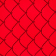 Red Chainlink Fence Shadow — Stock Photo #13799030