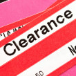 Stock Photo: Clearance Price Tag