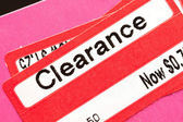 Clearance Price Tag — Stock Photo