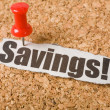 Headline Savings — Stock Photo