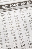 Newspaper Mortgage Rate — Stock Photo