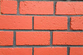 Red brick wall textured — Stock Photo