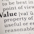 value — Stock Photo