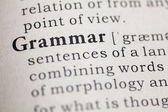 Dictionary definition of the word Grammar, Fake Dictionary — Stock Photo