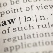 Stock Photo: Word Law