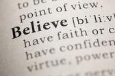 Believe — Stock Photo