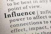 Influence — 图库照片