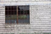 Rusty Metal Window — Stock Photo