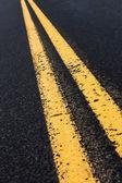 Double Yellow Line — Stock Photo
