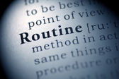 Routine — Stock Photo