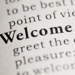 Welcome — Stock fotografie