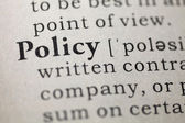 Policy — Foto Stock