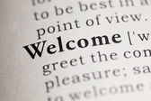 Welcome — Stock Photo