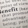 Stock Photo: Benefit