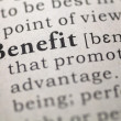 Benefit — Stock Photo