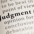 Stock Photo: Judgment