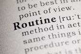 Routine — Stock Photo
