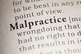 Malpractice — Stock Photo