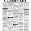 Stock Photo: Classified Ad
