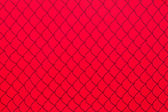 Red Chainlink Fence Shadow — Stock Photo
