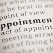 Appointment — Stock Photo