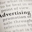 Advertising — Stock Photo