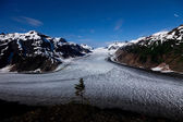Salmon Glacier and star trail — Zdjęcie stockowe