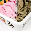 Laundry basket and dirty clothing — Stock Photo #33530407