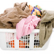 Laundry basket and dirty clothing — Stock Photo #33530451