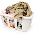 Laundry basket and dirty clothing — Stock Photo #33934285