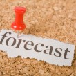 Headline forecast — Stock Photo