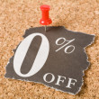 Zero percent off — Stock Photo