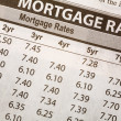 Stock Photo: Newspaper Mortgage Rate