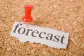 Headline forecast — Stock Photo