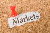 Headline market — Stock Photo