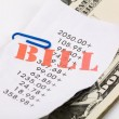Bills and dollars — Stock Photo