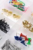 Hardware box and Nails — Stock Photo