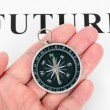 Headline future and Compass — Stock Photo