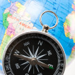 Stock Photo: Compass and Globe