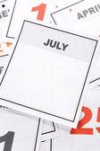 Blank Calendar — Stock Photo